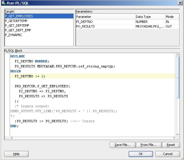 Test red cursor from SQL Developer Step 2